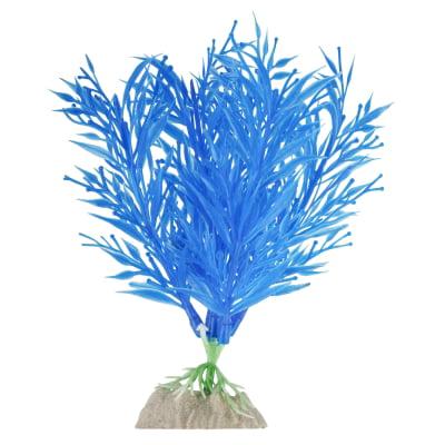 (4 Pack) GloFish Blue Fluorescent Aquarium Plant Decoration, -