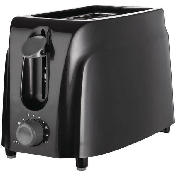 BRENTWOOD TWO SLICE TOASTER BLACK