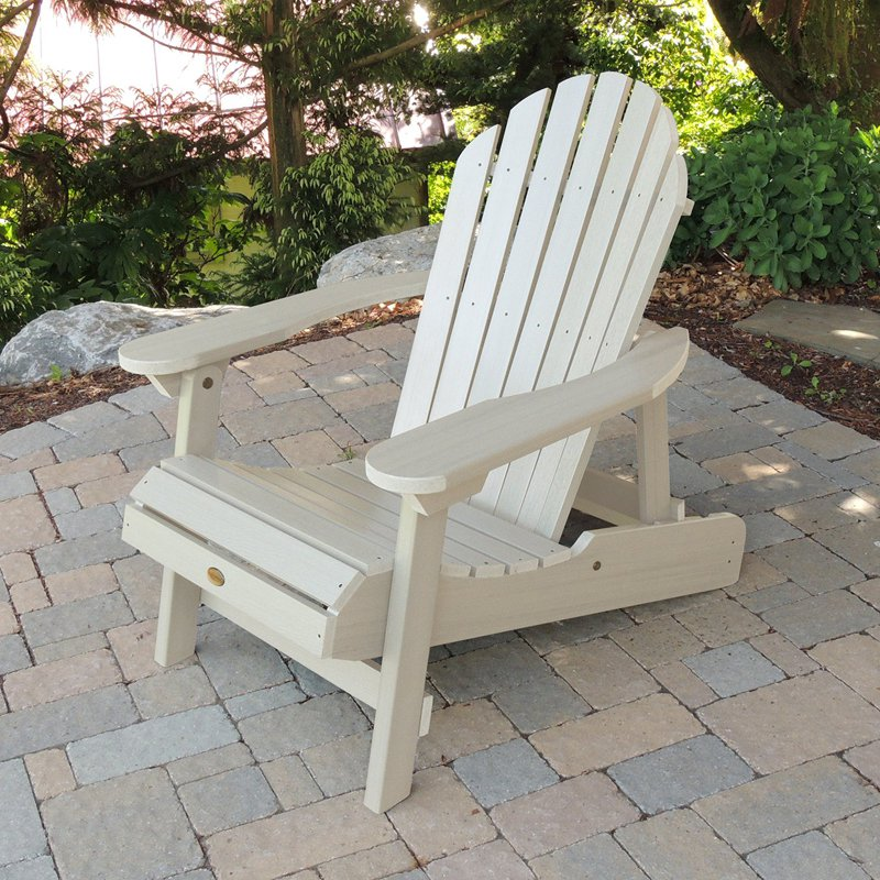 Eco-friendly Reclining Adirondack Chair in black