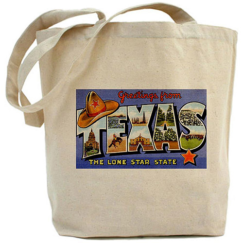 CafePress Greetings from Texas Tote Bag