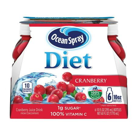 Ocean Spray Diet Cranberry Juice, 10 Fl. Oz., 6