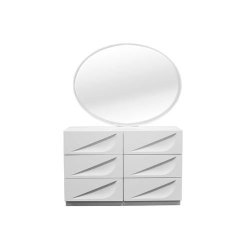 BestMasterFurniture Madrid 6 Drawer Dresser with Mirror