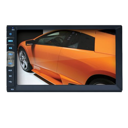 Universal 7 Inch LCD Touchscreen Car Radio Player In Dash Car Stereo Support Bluetooth Hands Free 800*480 Support Rear View Camera input (Camera Excluded) Rear View Hands Free Car