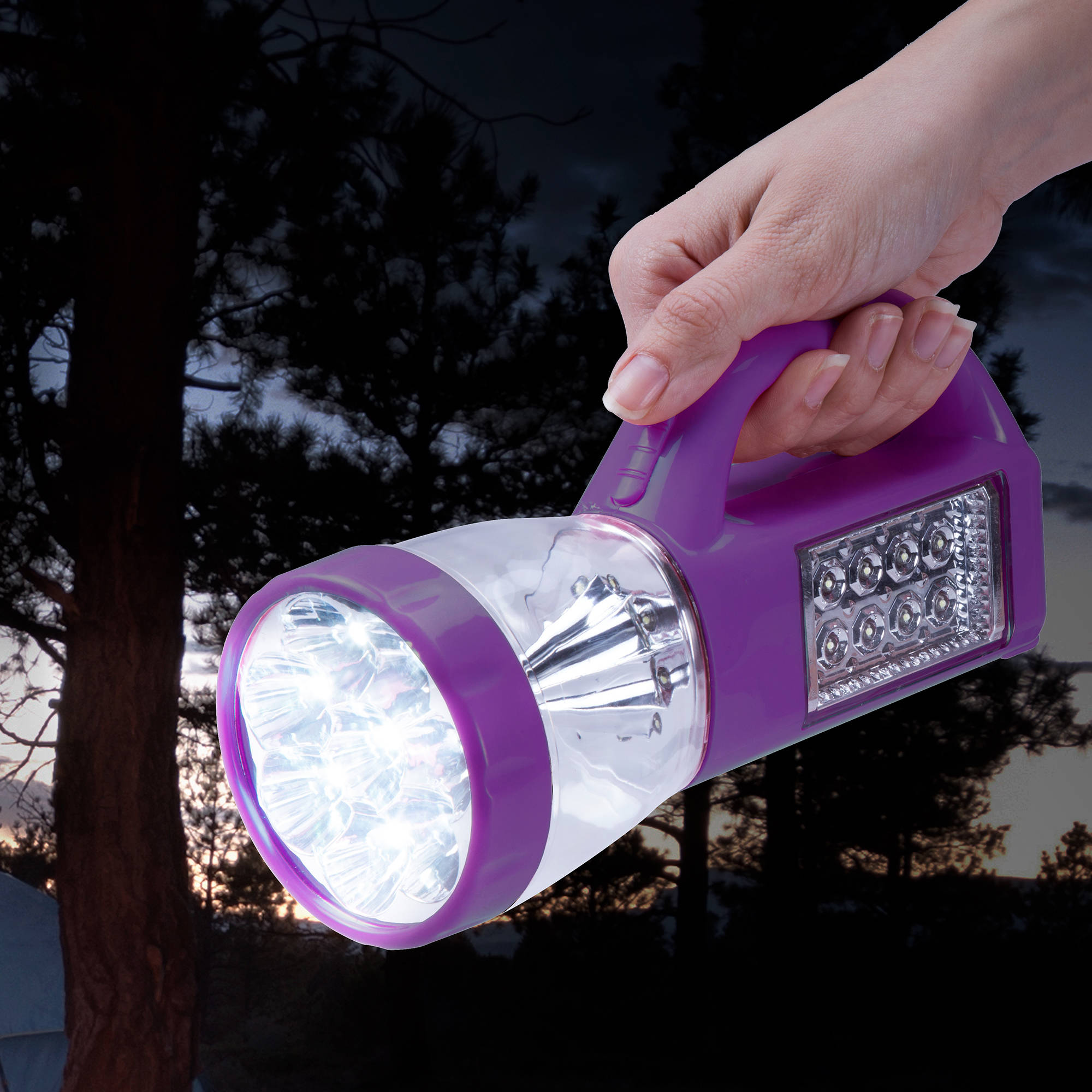 3 in 1 LED Lantern, Flashlight and Panel Light, Lightweight Camping Lantern By Wakeman Outdoors (For Camping Hiking Reading and Emergency) (Purple)