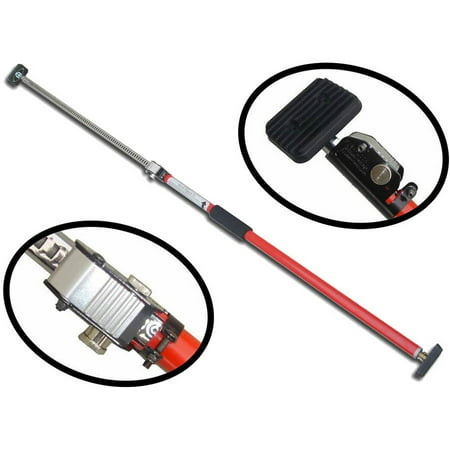 Sparehand Steel Adjustable Cargo Bar with Self-Locking Spring Ratchet for Vehicles, Extends 3.6 ft. to 6 ft., Red (Adjustable Cargo)