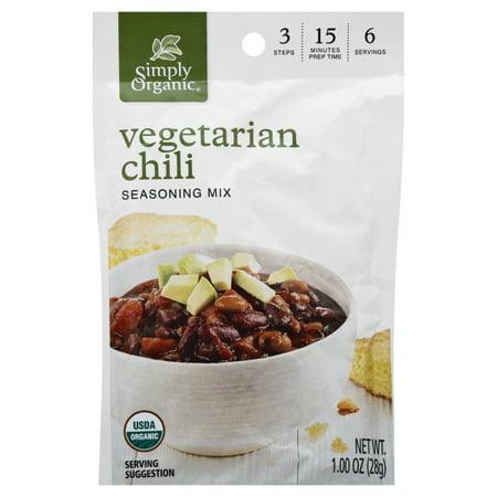 Simply Organic Seasoning Mix - Vegetarian Chili - Case Of 12 - 1