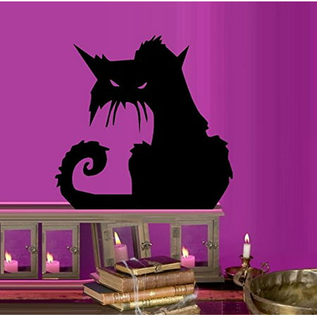 Decal ~ Scary Cat # 2 ~ HALLOWEEN: WALL OR WINDOW DECAL, 12