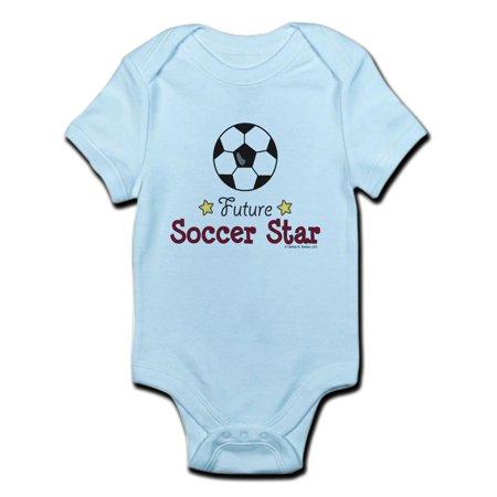 CafePress - Future Soccer Star Soccer Infant Bodysuit - Baby Light Bodysuit