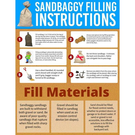 15d7b21d5adb Sandbaggy Burlap Sand Bag - Size: 14