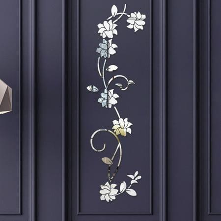 Gobestart 3D Diy Flower Shape Acrylic Wall Sticker Modern Stickers Dec