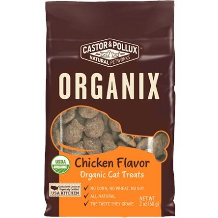 Castor & Pollux Organix Organic Cat Treats Chicken Flavor by Castor & Pollux, Inc