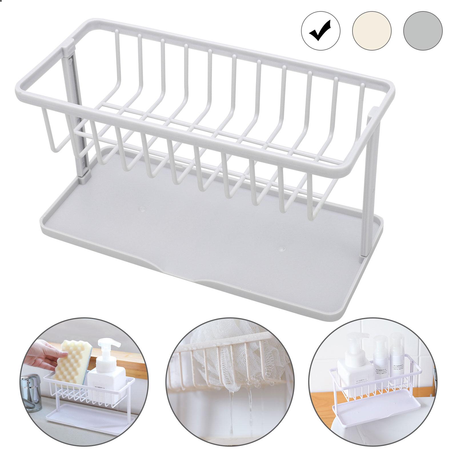 Kitchen Sink Caddy Sponge Holder Storage Organizer Drainer Strai Racks Soap Ganl