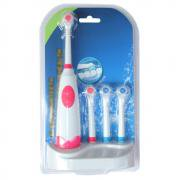 Jeobest 1 Set Electric Toothbrush Oral Hygiene Rotating Anti Slip with 4 Soft Bristles MZ(color