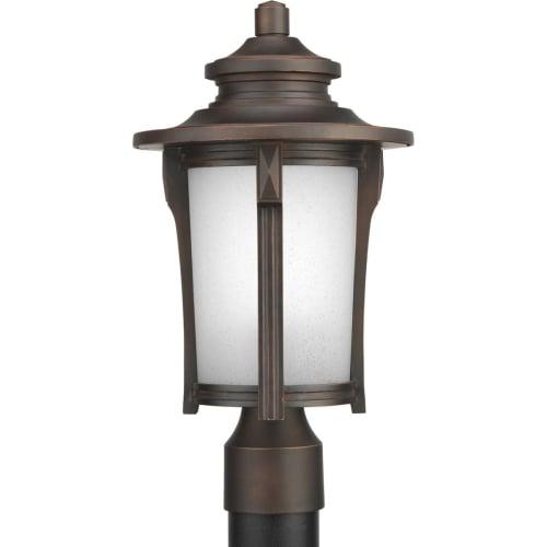 Progress Lighting P6403 Pedigree Single-Light Energy Efficient CFL Post Lantern with Etched Seeded Glass Shade by Progress Lighting