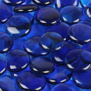 Wholesalers USA 5 lbs of  Glass Gems in Caribbean Blue