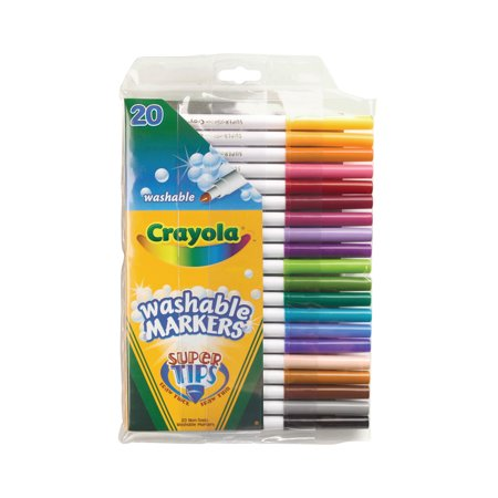 Crayola Washable Super Tip Marker Set, 20-Color