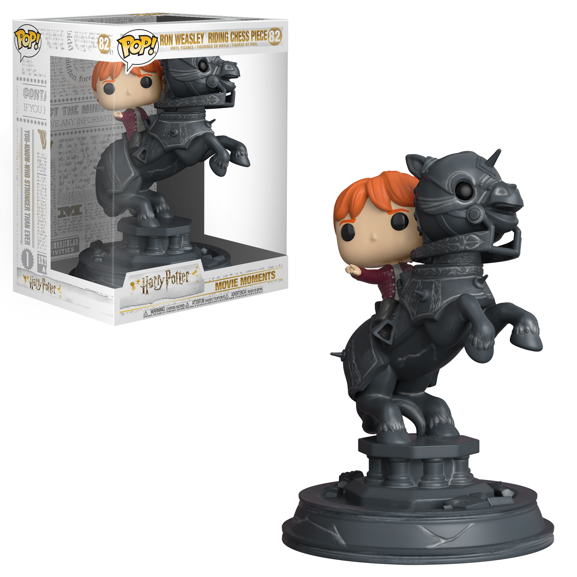 Funko POP! Movie Moment: Harry Potter: S5 - Ron Riding Chess Piece