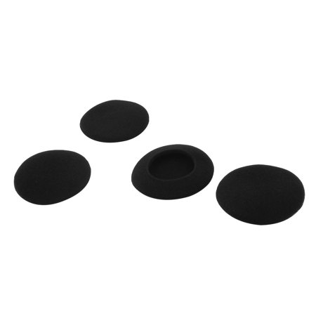 4pcs Black Sponge Earphone Headset Earpiece Headphone Foam Covers Cushions -