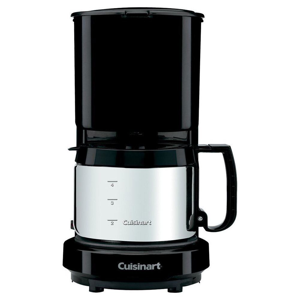 Cuisinart WCM08B 4-Cup Coffeemaker with Brushed Stainless Carafe - Black