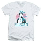Miami Vice 80's NBC TV Series Crockett Adult V-Neck T-Shirt Tee