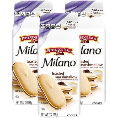 (3 Pack) Pepperidge Farm Milano Toasted Marshmallow Cookies, 7 oz. Bag