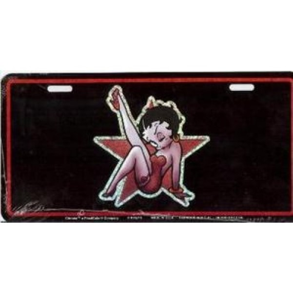 Betty Boop on Star License Plate