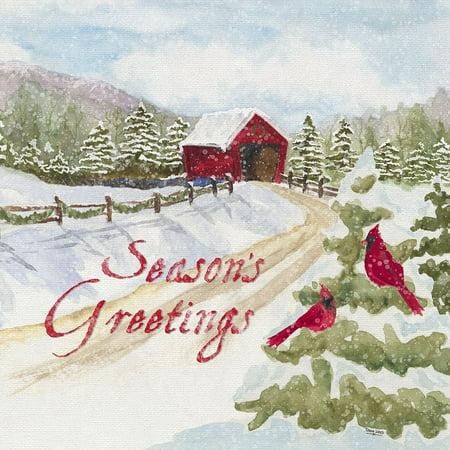 Christmas In The Country Ii Seasons Greetings Poster Print by Tara Reed ()