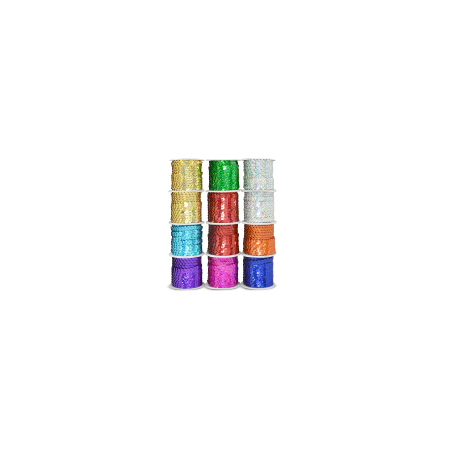 6 Mm Flat Sequins (Expo Int'l 12 Spools of 6mm Slung String Sequin - 5 meters each spool by the)
