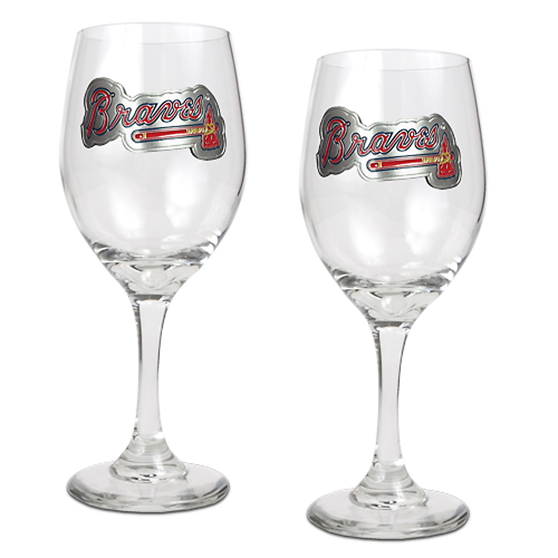Atlanta Braves 14oz. Wine Glass Set - No Size