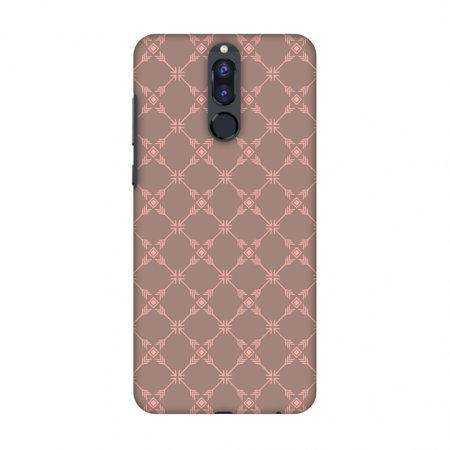Huawei Honor 9i Case - Tribal mesh- Antique brass, Hard Plastic Back Cover, Slim Profile Cute Printed Designer Snap on Case with Screen Cleaning Kit