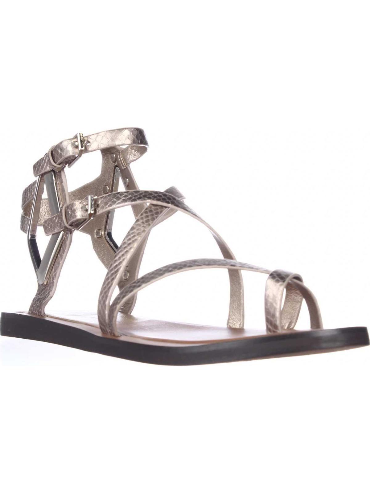 Womens Dolce Vita Ferrah Gladiator Sandals, Light Gold Snake, 7 US