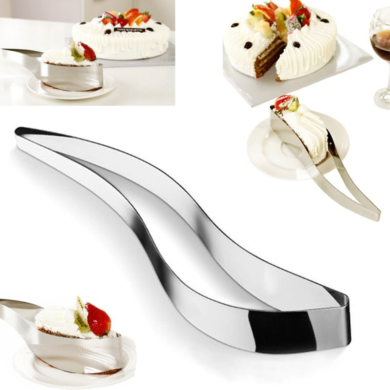 Stainless Steel Cake Cutters Knife Bread Slicer Server Cake Pie Kitchen Tool
