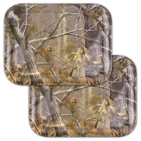 "DII, Real Tree Serving Tray, Melamine, Set of 2, 18x13"", Green Camo"