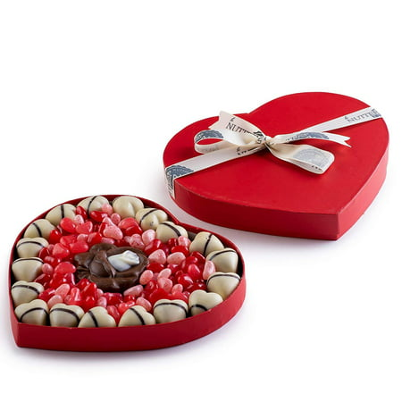 The Nuttery Chocolate & Candy Filled Heart Box- Valentines Day Gift Set](Heart Valentine)