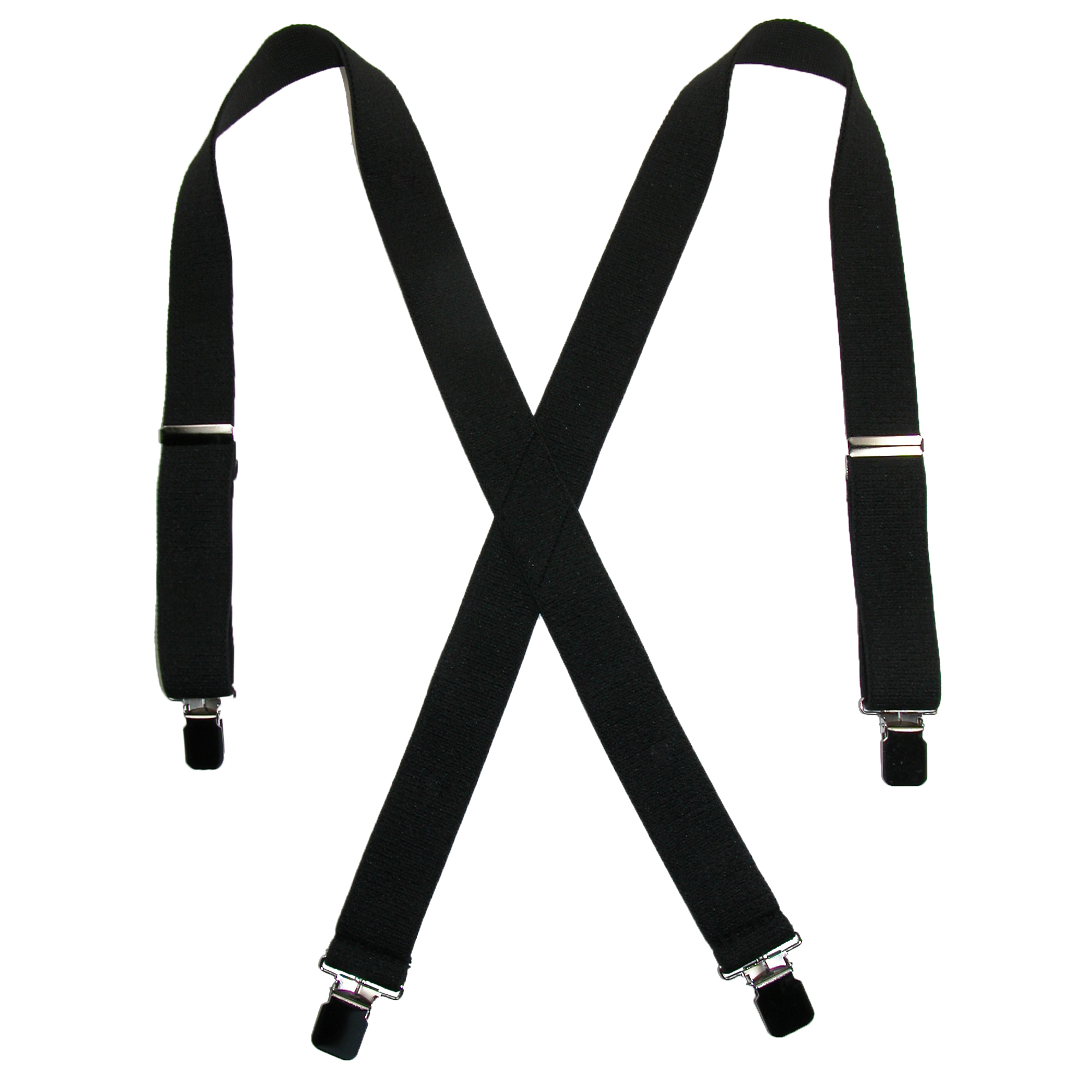 CTM® Men's Terry Casual Elastic Clip-End 1 1/2 Inch Suspenders