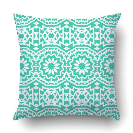 ARTJIA bohemian abstract tribal flowers and stripes flourish floral circles geometric Pillowcase Throw Pillow Cover Case 18x18 -