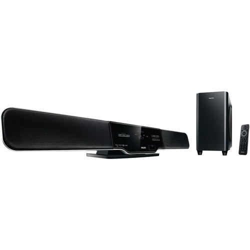 Philips HSB2313A/F7  2.1 CH Home Theater Soundbar Speaker System with Subwoofer,Refurbished