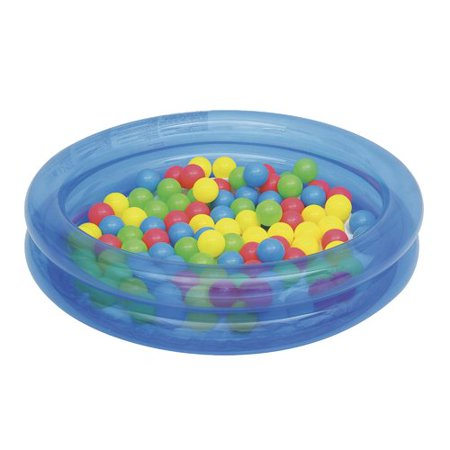 Bestway - Up, In and Over 36 Inch x 8 Inch 2-Ring Ball Pit Play Pool, (Best Way To Warm Up Pizza In Microwave)