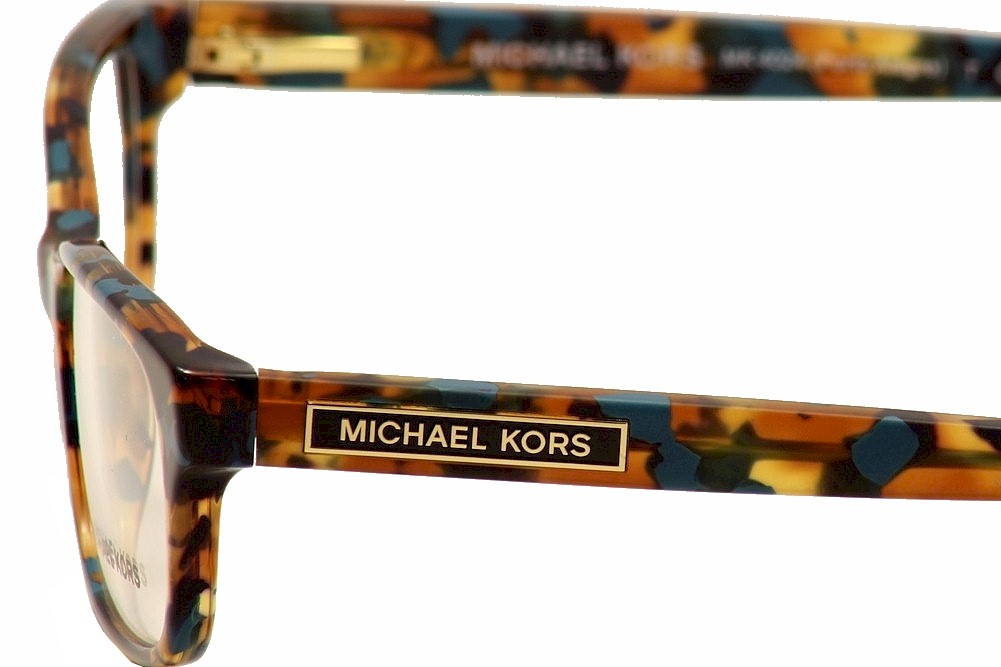 77c7d735cb6ba MICHAEL KORS Eyeglasses MK4024 PORTO ALEGRE 3068 Turquoise Tortoise 53MM -  Walmart.com