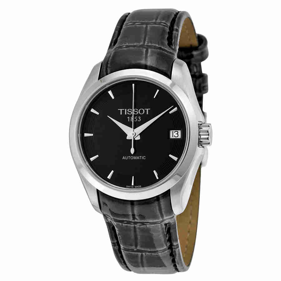 Tissot Couturier Automatic Black Dial Ladies Watch T03520...