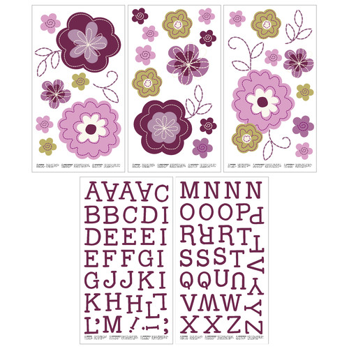 Crown Crafts  NoJo Pretty In Purple Wall Decals