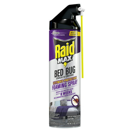 Raid Max Bed Bug Crack and Crevice, Extended Protection, Foaming Spray, 17.5