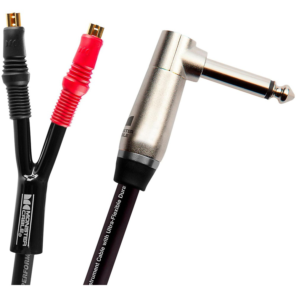 "Monster Cable Performer 600 Combo Amp 1/4"" to Faston Speaker Cable 3 ft."