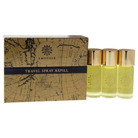 Honour by Amouage for Men - 3 Pc Mini Gift Set 3 0.33oz EDP Spray (Refill)