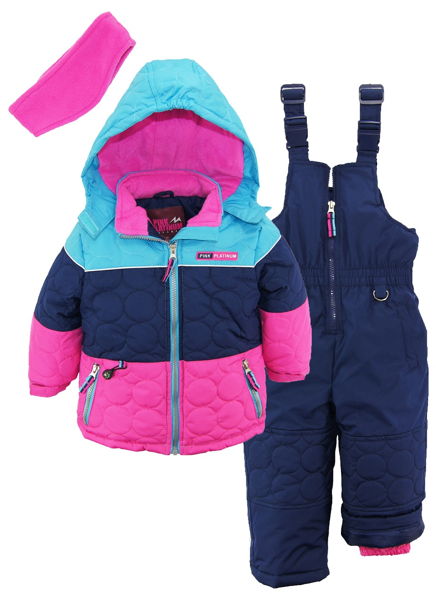 fair ip platinum pink girls with jacket little bib snow com walmart isle snowsuit solid ski
