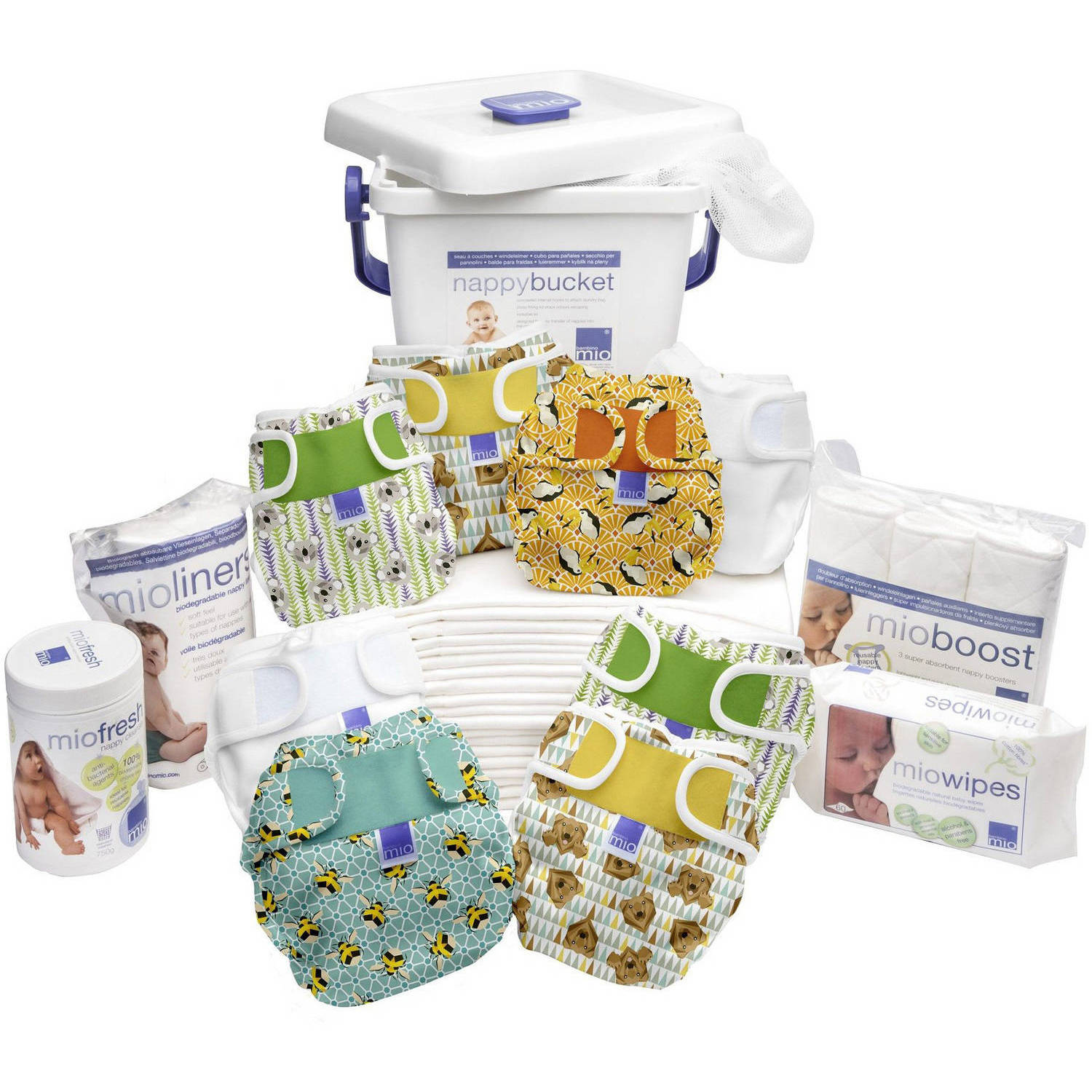 Bambino Mio Miosoft Birth to Potty Pack, (Choose Your Pattern)