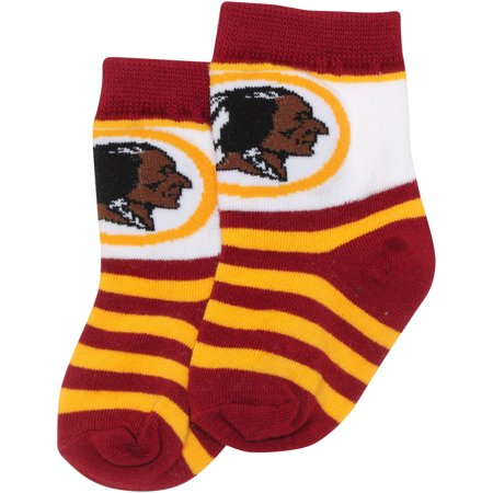 Washington Redskins For Bare Feet Toddler Rugby Stripe Socks - No (Crew Striped Rugby)