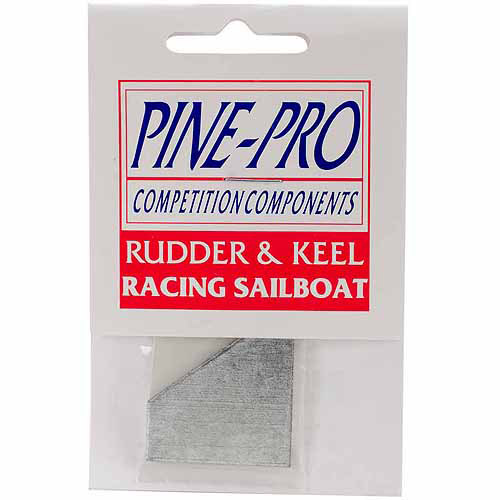 Pine Car Derby Racing Sailboat Rudder and Keel