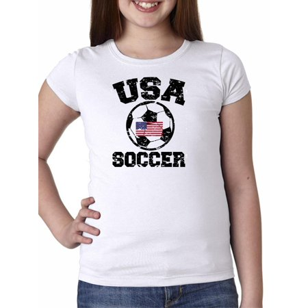 USA Soccer - with Large Soccer Ball & Flag - Olympic Girl