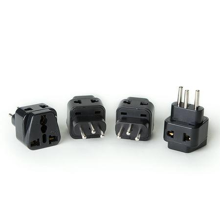 OREI 2 in 1 USA to Switzerland Adapter Plug (Type J) - 4 Pack,